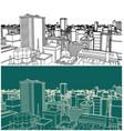 modern city sketch vector image vector image