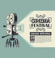 movie camera poster vector image