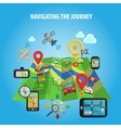 Navigating The Journey Concept vector image vector image
