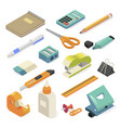 office tools and business stationery for workplace vector image vector image