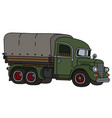 old green delivery truck vector image vector image