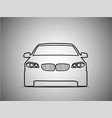 outlines of front sports cars vector image vector image