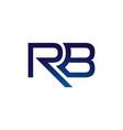 r b rb initial letter logo design template