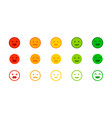 rating scale feedback horizontal row rating meter vector image