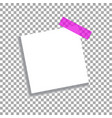 realistic square white sheet with shadows vector image vector image