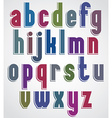 Retro font bold condensed letters typeface vector image