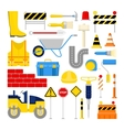 Road Construction Works Icons Set vector image vector image
