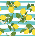 seamless pattern of branches with lemons green vector image vector image