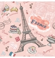 seamless pattern on paris from romantic vector image