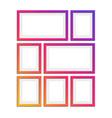 set modern photo frames vector image vector image