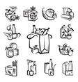 set of food and goods icons vector image