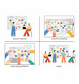 set of scrum planning vector image vector image
