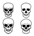 set skull on white background design element vector image vector image
