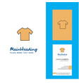 shirt creative logo and business card vertical vector image