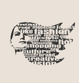 silhouette of a female head fashion keywords vector image vector image