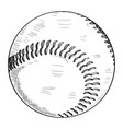 sketch of a baseball ball vector image vector image