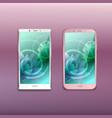 smartphones background realistic set vector image