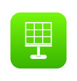 solar battery icon digital green vector image vector image