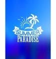 Summer paradise poster vector image vector image