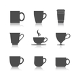 tea cup set vector image