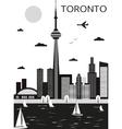 Toronto Canada vector image vector image