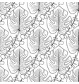 tropical leaves pattern seamless pattern for vector image vector image