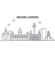 uk liverpool architecture line skyline vector image vector image