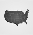 usa map us map united states of america map vector image