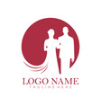 wedding service logo and icon vector image