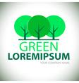 Logo green tree vector image