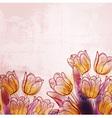 Retro watercolor tulips vector image