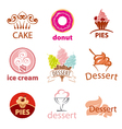 biggest collection of logos desserts vector image
