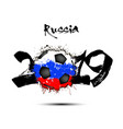 2019 new year and a soccer ball as flag russia vector image vector image