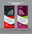 abstract construction roll up banners vector image vector image