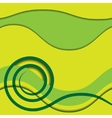 abstract green spiral with colored background vector image vector image