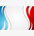 abstract red and blue corporate wavy background vector image