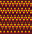 abstract red and yellow waves seamless pattern vector image vector image