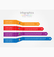 arrow infographic template layout for business vector image vector image