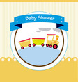 baby shower design over beige background vector image vector image