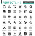 black classic legal law and justice icons set vector image vector image