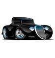 black hot rod classic coupe cartoon vector image vector image