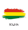 bolivia watercolor national country flag icon vector image
