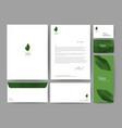 branding identity template corporate company vector image vector image