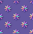 bright violet holographic flowers seamless pattern vector image