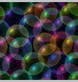 bubbles seamless pattern vector image