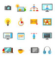 cartoon freelance signs color icons set vector image