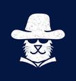 cat mafia gangster logo vector image vector image
