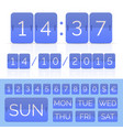 colored flat calendar with week days and flip vector image vector image