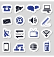 communication stickers vector image vector image
