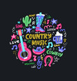 country music vector image